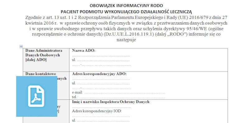 Klauzula informacyjna WZÓR