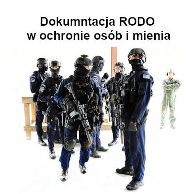 Wzory dokumentacji RODO dla branży ochroniarskiej