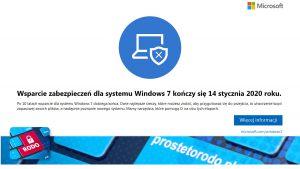 Koniec wsparcia technicznego dla Windows 7