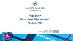 Plan kontroli NIK na 2020r.