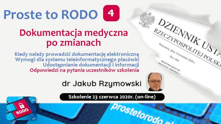 Dokumentacja medyczna po zmianach - szkolenie dr Jakub Rzymowski