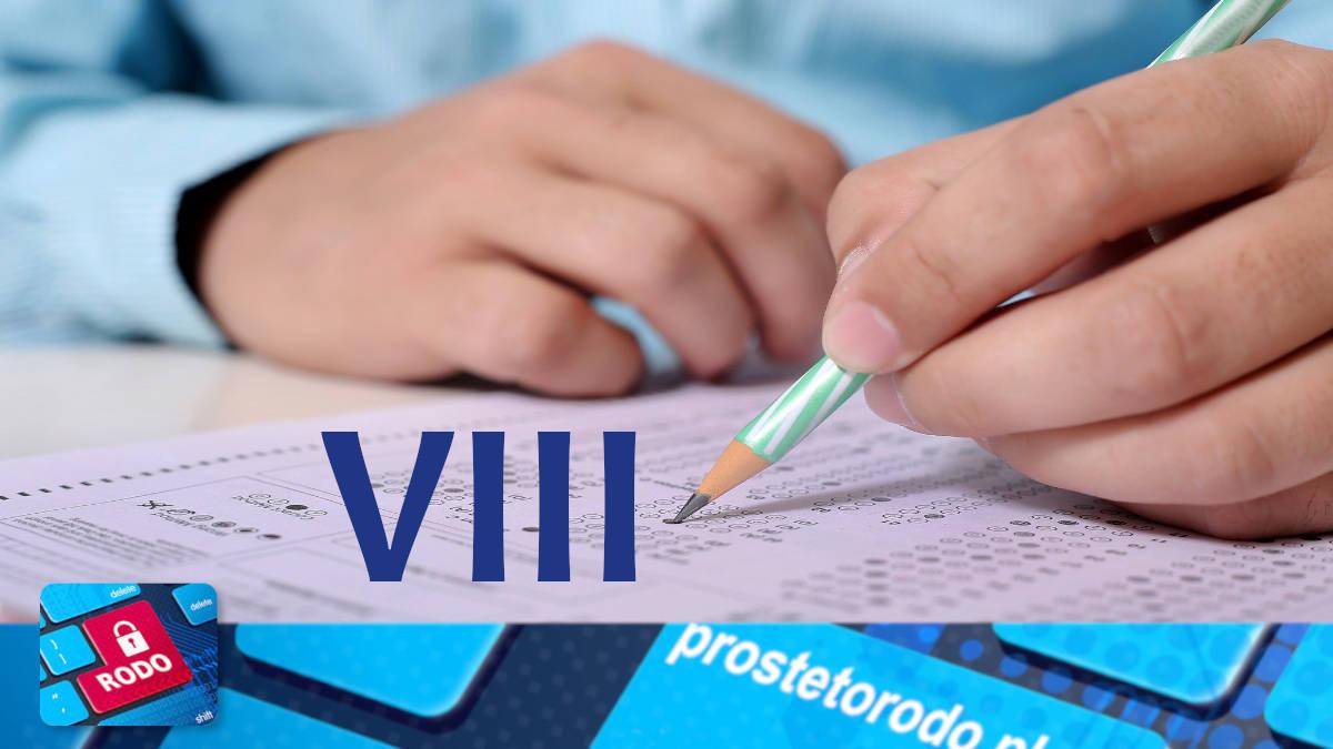 Procedura przeprowadzania egzaminu dla VIII klasy