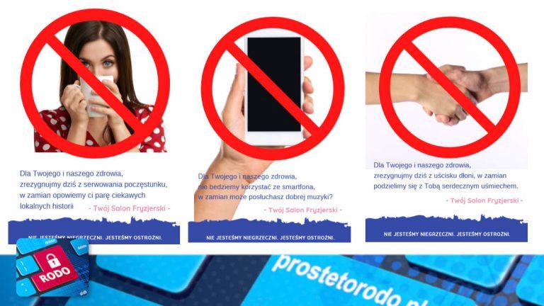 Plakaty informacyjne dla salonów fryzjerskich