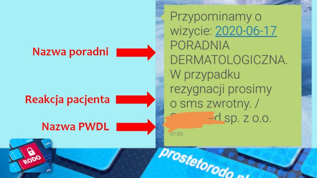 SMS od lekarza i jego treść