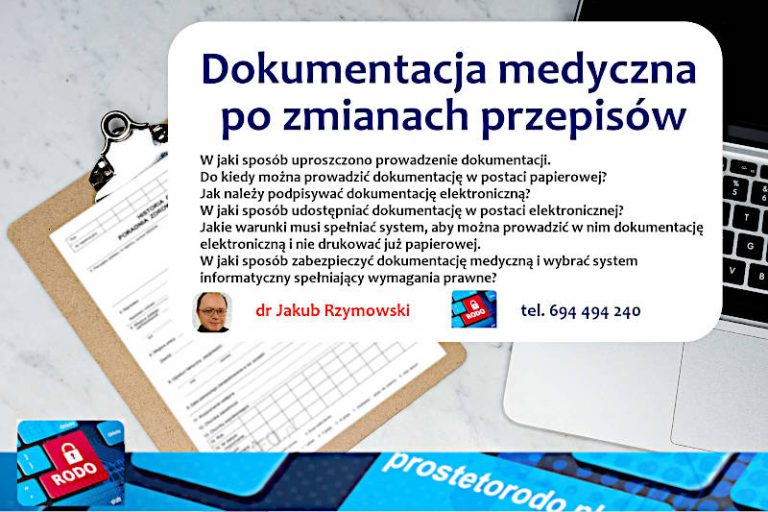 Elektroniczna Dokumentacja Medyczna szkolenia dr Jakub Rzymowski
