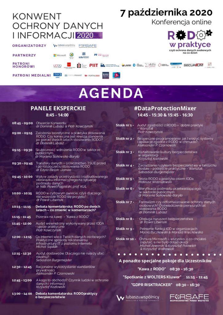 Agenda Konwent Ochrony Danych i Informacji