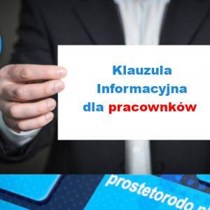 Klauzula Informacyjna dla pracowników