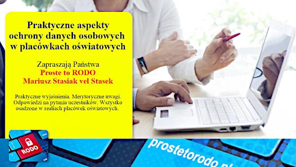 Szkolenia dla oświaty Mariusz Stasiak vel Stasek