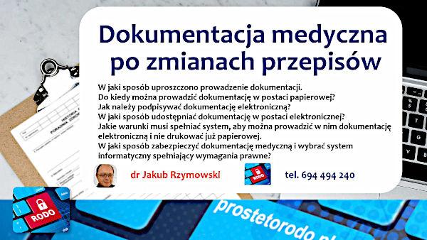 Szkolenia z dokumentacji medycznej dr Jakub Rzymowski Proste to RODO