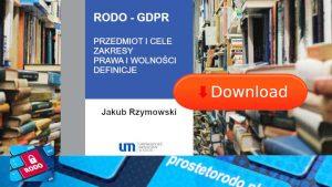 Komentarz do RODO dr Jakub Rzymowski